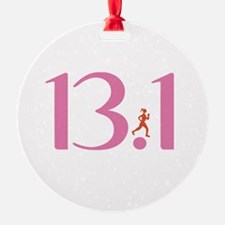 13.1 Half Marathon Runner Girl Ornament