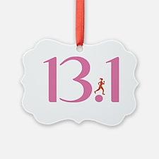 13.1 Half Marathon Runner Girl Ornament