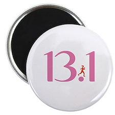 13.1 Half Marathon Runner Girl Magnet