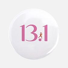 """13.1 Half Marathon Runner Girl 3.5"""" Button (100 pa"""