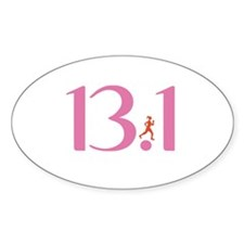 13.1 Half Marathon Runner Girl Decal
