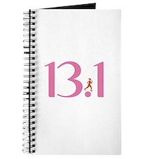 13.1 Half Marathon Runner Girl Journal