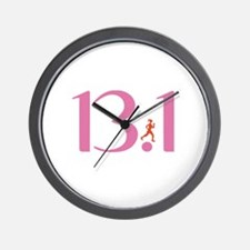 13.1 Half Marathon Runner Girl Wall Clock