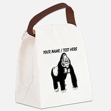 Custom Gorilla Sketch Canvas Lunch Bag