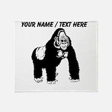Custom Gorilla Sketch Throw Blanket