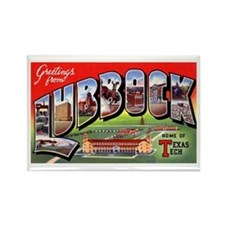 Lubbock Texas Greetings Rectangle Magnet