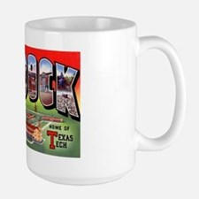 Lubbock Texas Greetings Large Mug