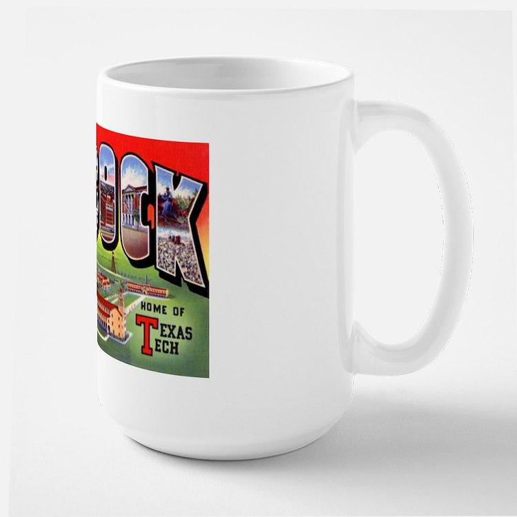 Lubbock Texas Greetings Large Mug