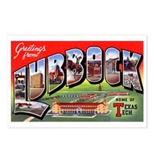 Lubbock Texas Greetings Postcards (Package of 8)