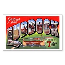 Lubbock Texas Greetings Rectangle Decal
