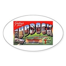 Lubbock Texas Greetings Oval Decal