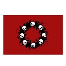 Gothic Skull Wreath Postcards (Package of 8)