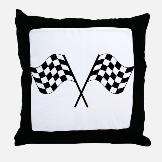 Checked Flags Throw Pillow