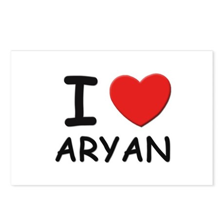 I love Aryan Postcards (Package of 8)
