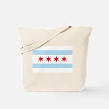 Chicago Flag Tote Bag