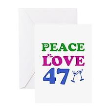 Peace Love 47 Greeting Card