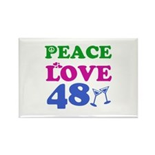 Peace Love 48 Rectangle Magnet