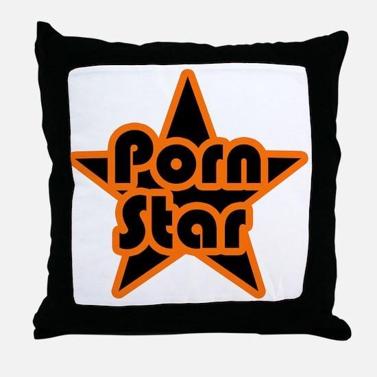 Porn Star Throw Pillow