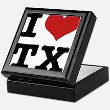 I love texas Keepsake Box