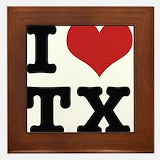 I love texas Framed Tile