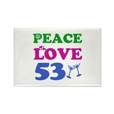 Peace Love 53 Rectangle Magnet