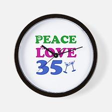 Peace Love 35 Wall Clock