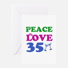 Peace Love 35 Greeting Card