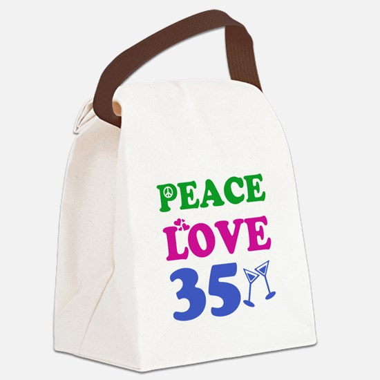 Peace Love 35 Canvas Lunch Bag