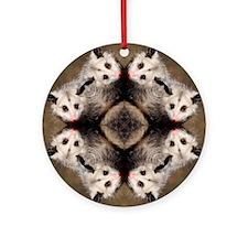 Opossum Mandala Ornament (Round)
