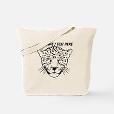 Custom Cheetah Face Sketch Tote Bag