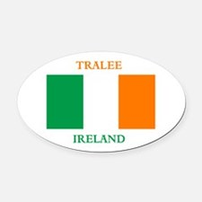 Tralee Ireland Oval Car Magnet