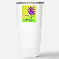 Wildflower Keep It Simple Travel Mug