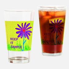 Wildflower Keep It Simple Drinking Glass