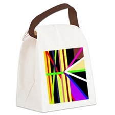 Lines Aligned Canvas Lunch Bag