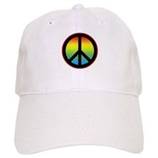 Psychedelic Peace Sign Baseball Cap