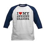 I Love My Awesome Grandpa Kids Baseball Jersey