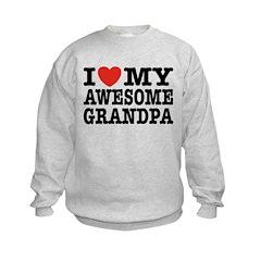 I Love My Awesome Grandpa Sweatshirt