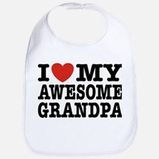 I Love My Awesome Grandpa Bib