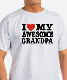 I Love My Awesome Grandpa T-Shirt