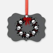 Gothic Christmas Wreath Ornament