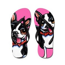 Bowtie Boston Terriers Flip Flops