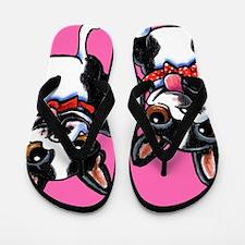 Bowtie Boston Terriers Flip Flops