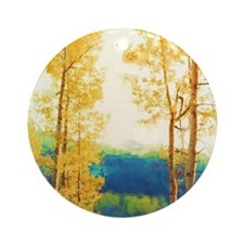 Faded Aspens Ornament (Round)