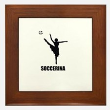 Soccerina Framed Tile