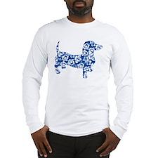 Aloha Doxie in Blue Long Sleeve T-Shirt