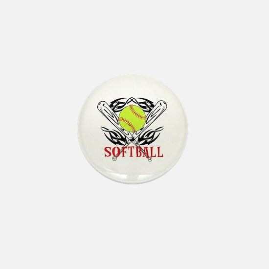 Softball Tribal Mini Button