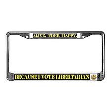 Unique Libertarianism License Plate Frame