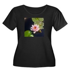 Pink Water Lily Plus Size T-Shirt
