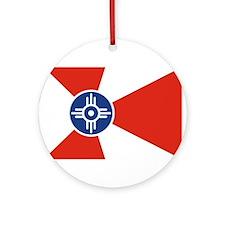 Wichita Flag Ornament (Round)