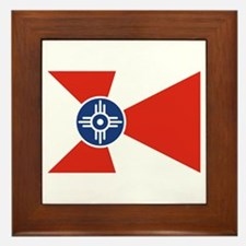Wichita Flag Framed Tile